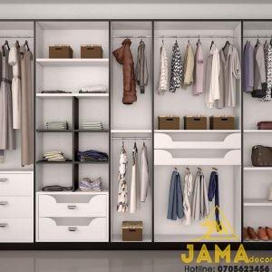 Kệ quần áo hiện đại - Thiết kế không cánh tiện lợi