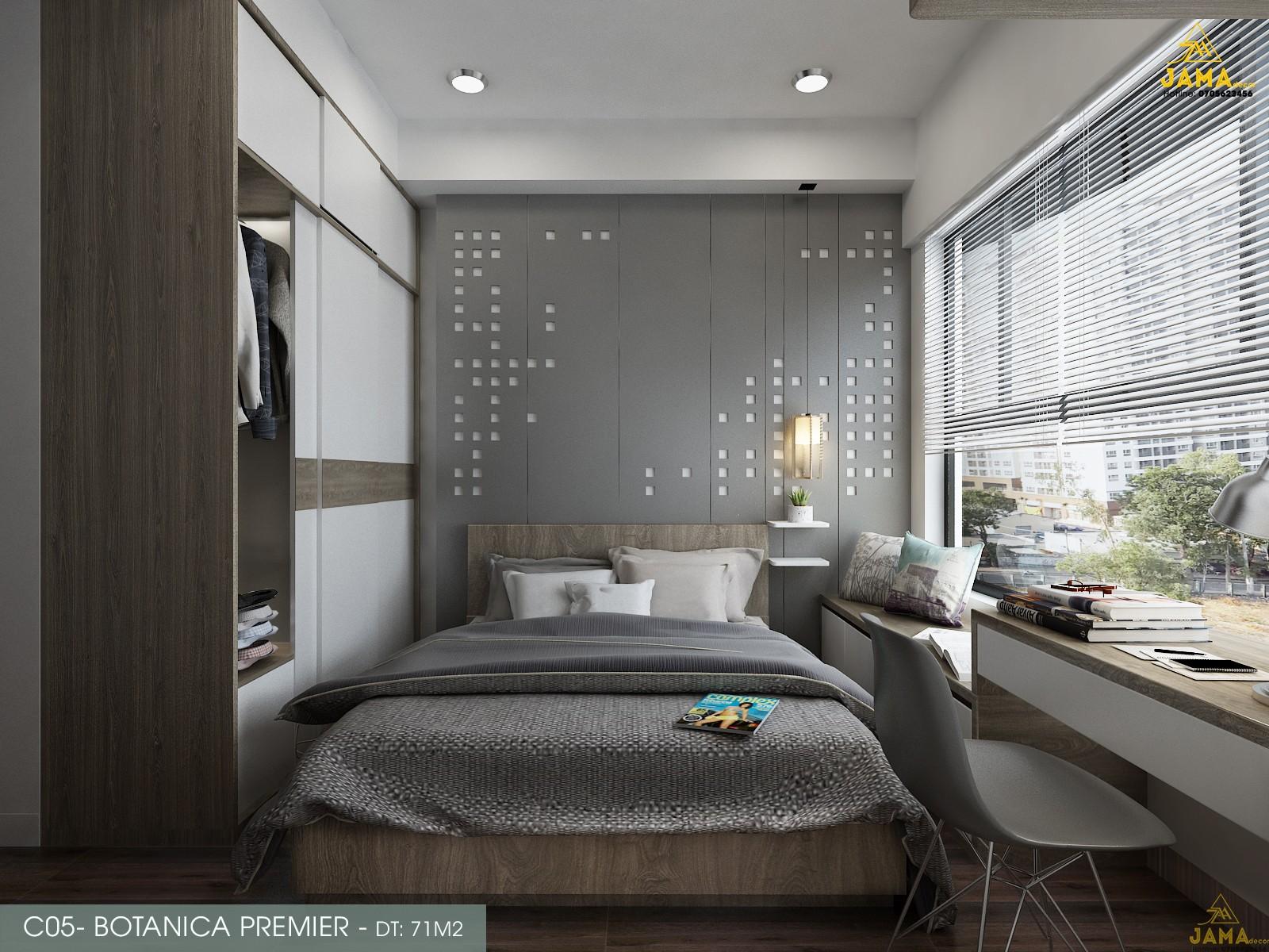 Thiết kế nội thất căn hộ Botanica Premier - 71m2