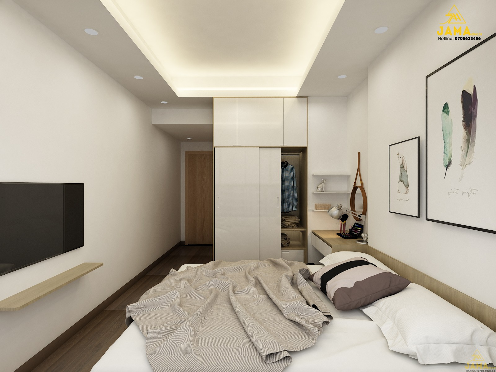 Thiết kế và thi công nội thất căn hộ Golden Mansion 71.2m2