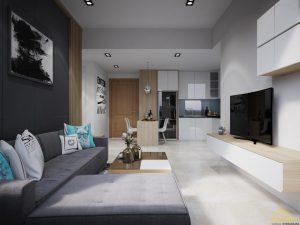 Thiết kế căn hộ Masteri Thảo Điền 46m2