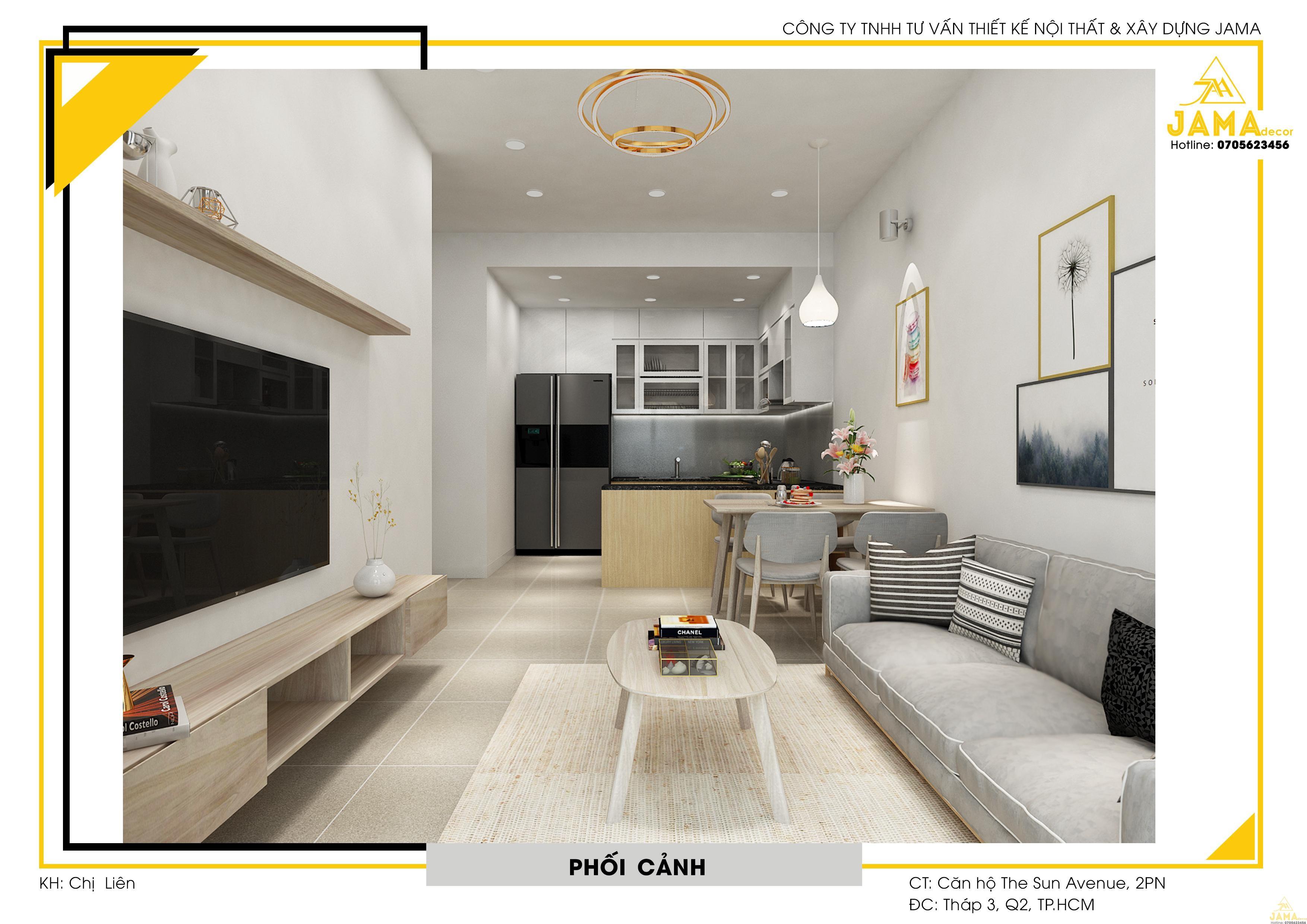 Thiết kế và bàn giao nội thất căn hộ The Sun Avenue Quận 2 - Chị Hoa Liên