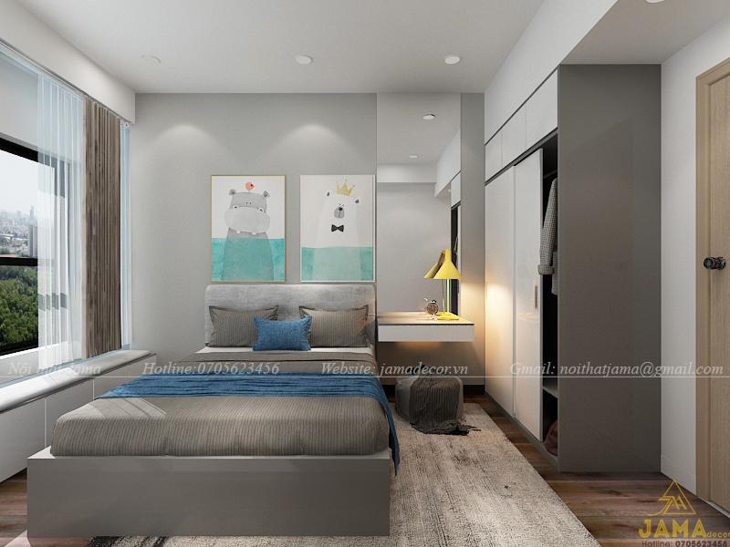 Thiết kế nội thất căn hộ The Sun Avenue.
