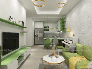 Nội thất căn hộ The Sun Avenue 2 phòng ngủ