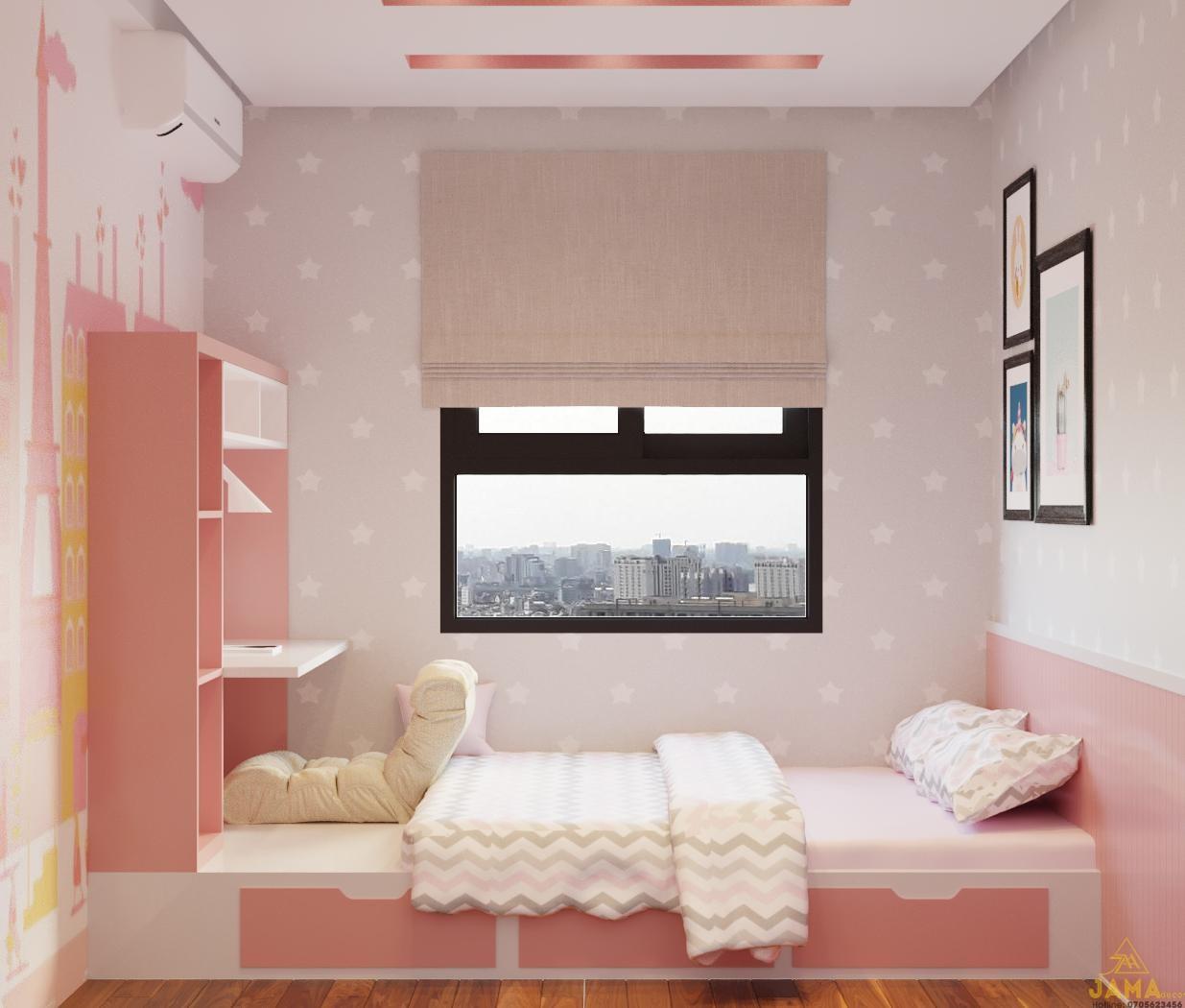 Phòng ngủ nhỏ chung cư Hausneo