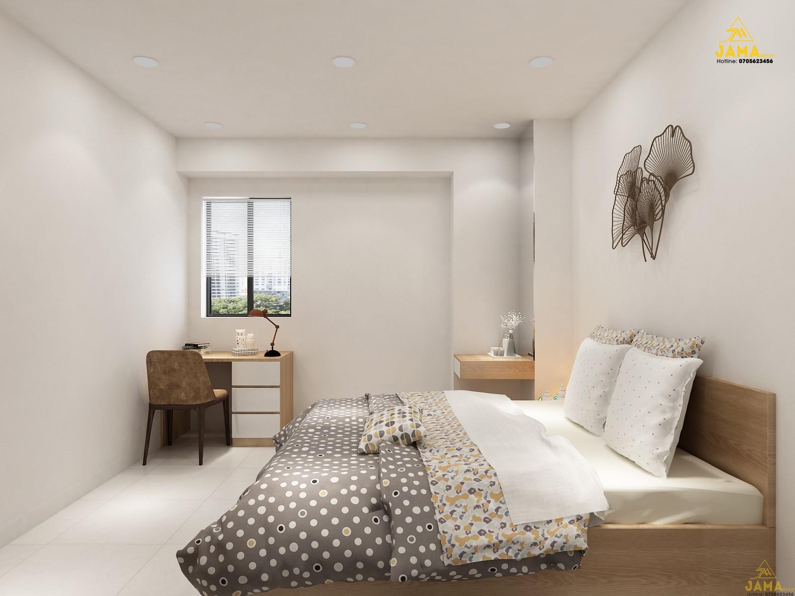 Thiết kế nội thất căn hộ 1 phòng ngủ.