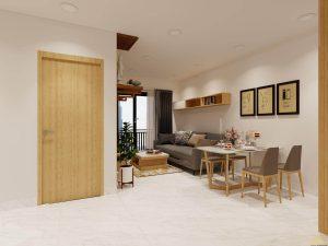 Thiết kế nội thất căn hộ S-Home Bình Chiểu 2 phòng ngủ