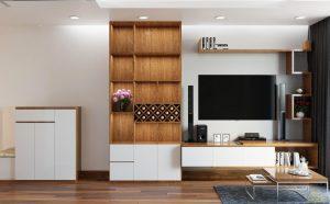 Thiết kế nội thất phòng khách căn hộ chung cư Hausneo Q9