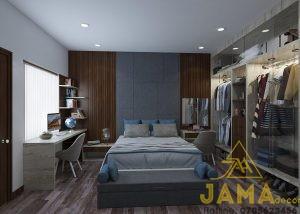 Phòng ngủ cổ điển trầm ấm