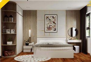 Nội thất phòng ngủ căn hộ Palm Heights Q2 2 Phòng ngủ