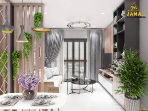 Thiết kế căn hộ Flora Novia 2 phòng ngủ - Ảnh: JAMA Decor