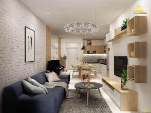 Thiết kế căn hộ Gateway Vũng Tàu 2 phòng ngủ