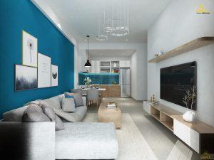 Thiết kế nội thất căn hộ The Sun Avenue 2 phòng ngủ