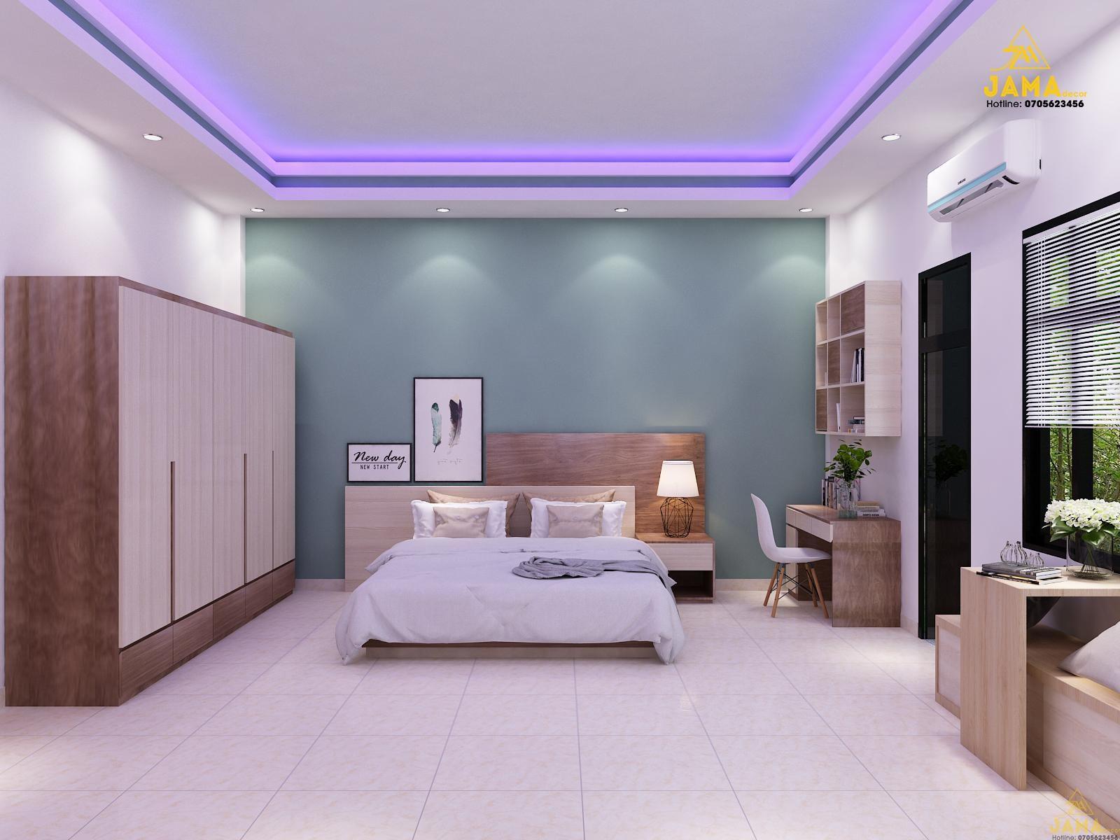 Phòng ngủ nhà phố Bình Thạnh