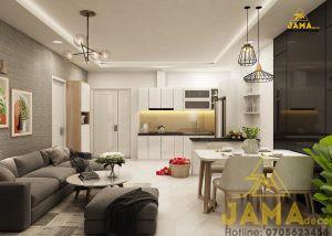 Thiết kế nội thất căn hộ Moonlight Boulevard 1 phòng ngủ