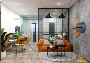 Tổng quan Thiết kế nội thất căn hộ Ecoxuan Studio 47.7m2